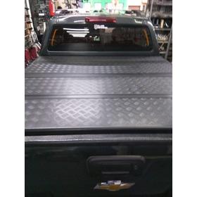 Tapa Trifold Chevrolet S10 2012 Al 2020 Trifold Aluminio Neg