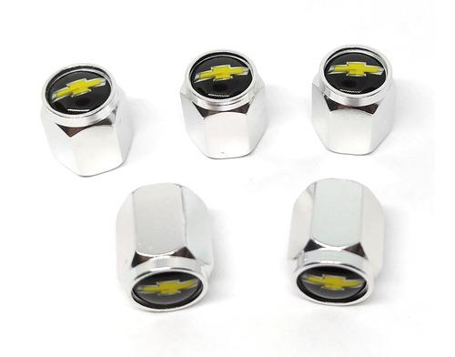 tapa valvulas para neumatico emblema chevrolet