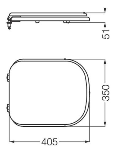 tapa y asiento p/inodoro c/herraje d/cromo bari tkxmc ferrum