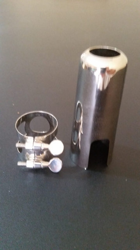 tapa y ligadura metálica para saxofón tenor