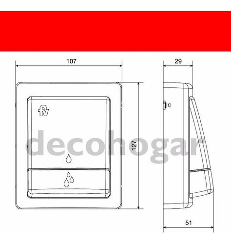 tapa y tecla para valvula doble descarga inodoro fv 0368.04
