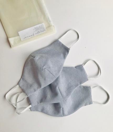 tapaboca barbijo reutilizable (x3 uni.) algodón sustentable