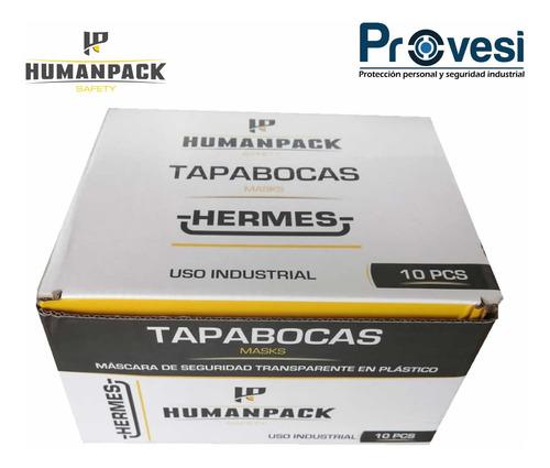 tapabocas acrilico antiempañante hermes humanpack caja x 10