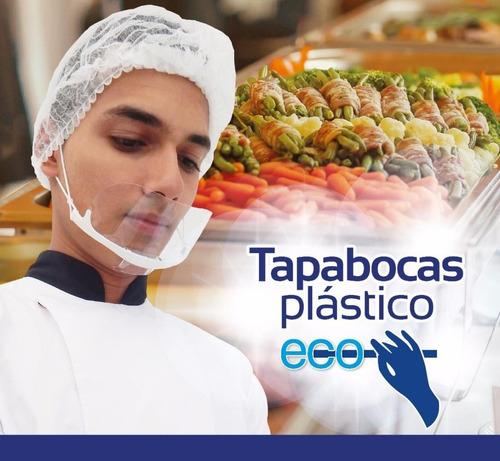 tapabocas acrilico plastico transparente antiempañante x 5 u