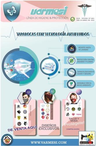tapabocas antifluidos invima - unidad a $1000