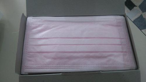 tapabocas color rosado - color  morado  50 unidades.