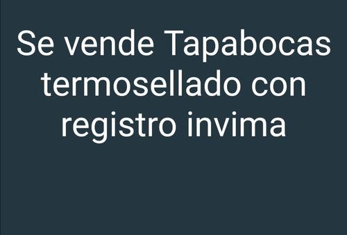 tapabocas con  registro invima
