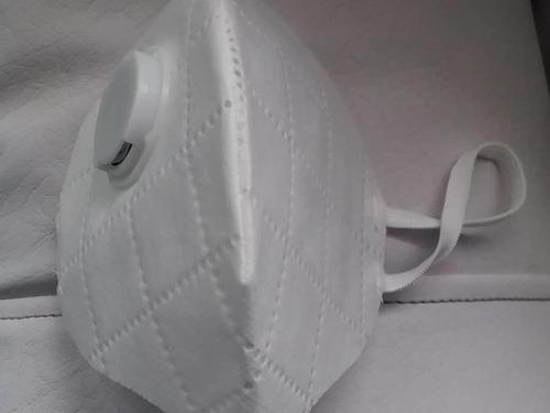 tapabocas con válvula para una mejor respiracion  y gel anti
