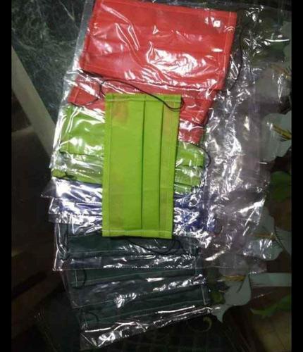 tapabocas de colores doble tela
