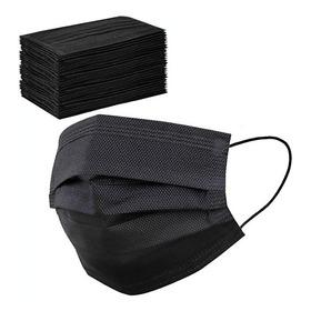 Tapabocas Desechable Negro Pack 50 Elegante Durable Comodo