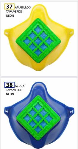 tapabocas en pvc atóxico, fabricación 3d, con bandas de goma