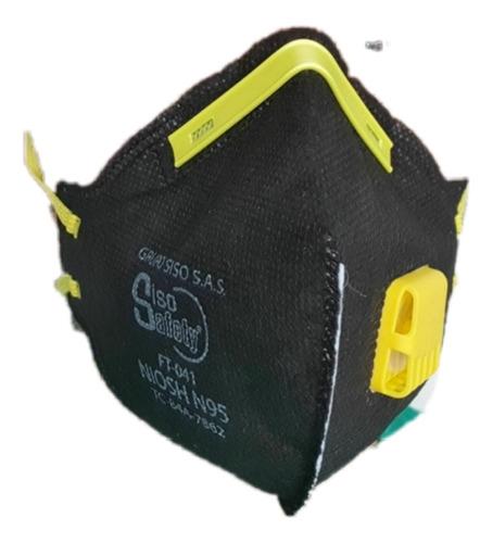 tapabocas filtro n95 con valvula siso safety