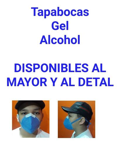 tapabocas gel y alcohol