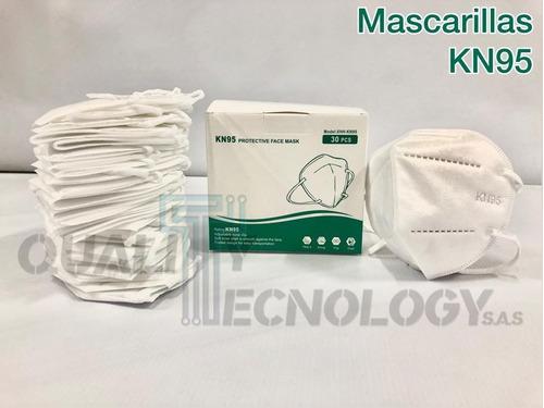 tapabocas kn95 mascarillas blancos 5 capas caja x 30 unidade