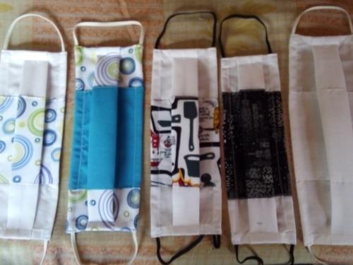 tapabocas lavable en tela antifluido 50 lavadas surtidos