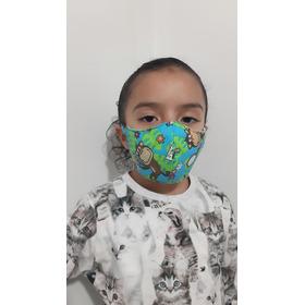 Tapabocas Lavable Niños 2 Capas - Unidad a $4500