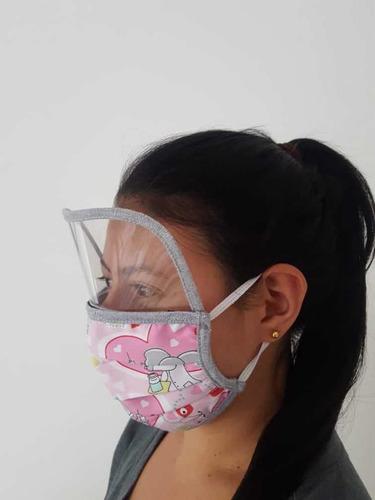 tapabocas lavables antifluidos con visor y sin visor