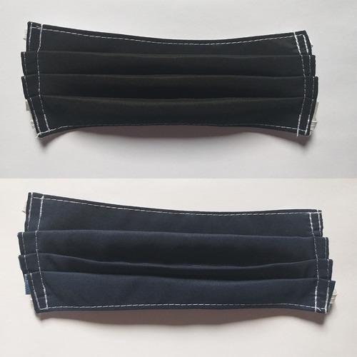 tapabocas lavables x  12 unidades doble capa tela antifluido
