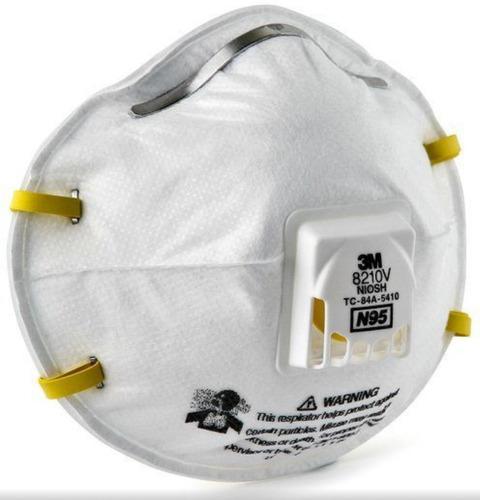 tapabocas n95 3m ref. 8210v con válvula exhalatoria