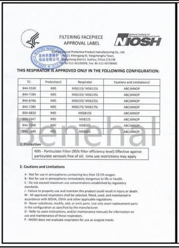 tapabocas n95 mavericks certificación niosh