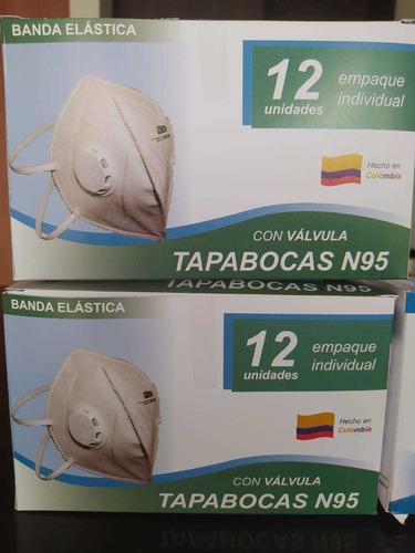 tapabocas n95 termosellado 4 capas cms con válvula caja x12