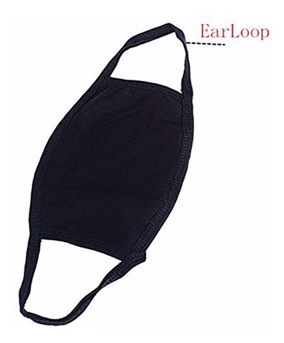 tapabocas negro cubrebocas kawai mascara kpop protector bts