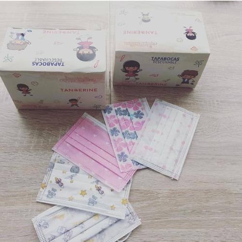 tapabocas pediátrico caja x 50 unidades empaque individual