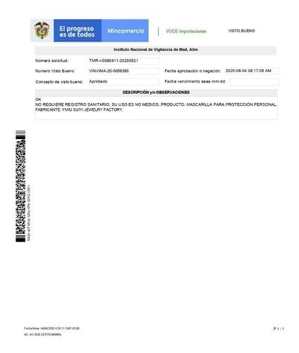 tapabocas - protector mascara respirador kn95