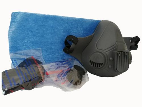 tapabocas reutilizable, en pvc atóxico 2 filtros de repuesto