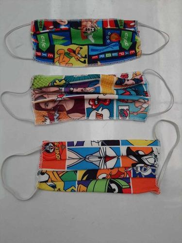 tapabocas reutilizable paquete x 12 unidades