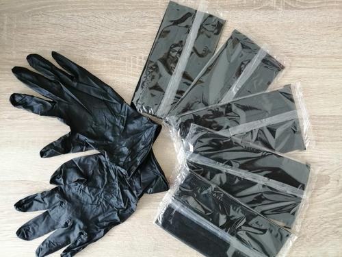 tapabocas y guantes negros - unidad a $2