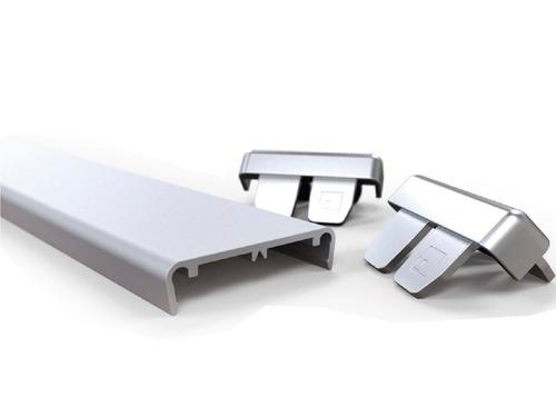 tapacanto aluminio euro 18 mm 3 mt muebles madera grupo euro