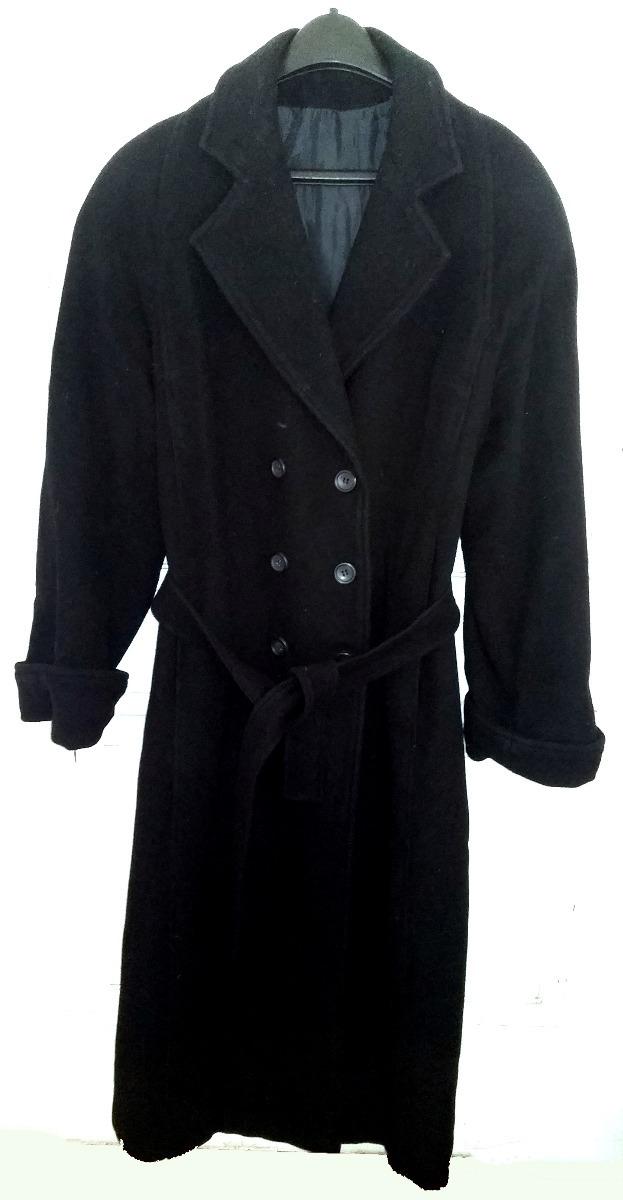 tapado - abrigo largo de paño negro - oferta. Cargando zoom. 222c7a25d98a