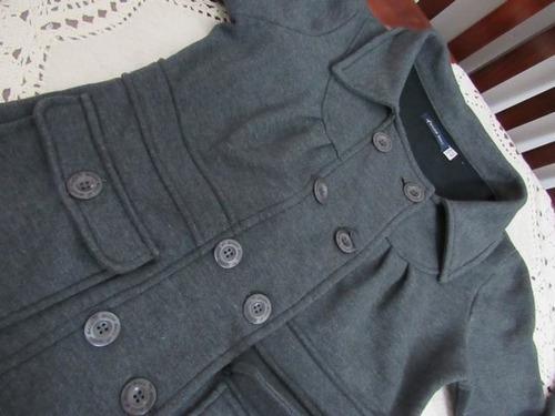 tapado algodon pesado abotonado y bolsillos t: 42