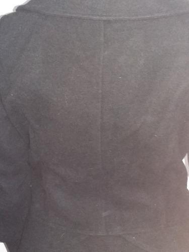 tapado clasico negro talle m se puede ver