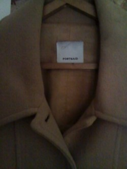 tapado saco abrigo mujer paño -beige- portsaid -exelente!! tapado mujer paño 508aec506ec0