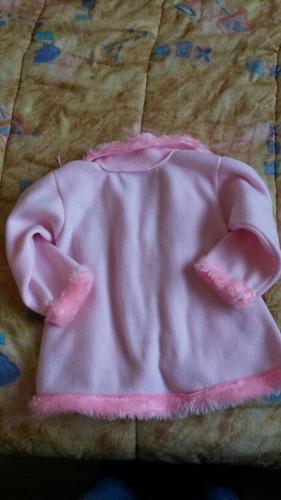 tapado o saco  para beba talle 5 rosado