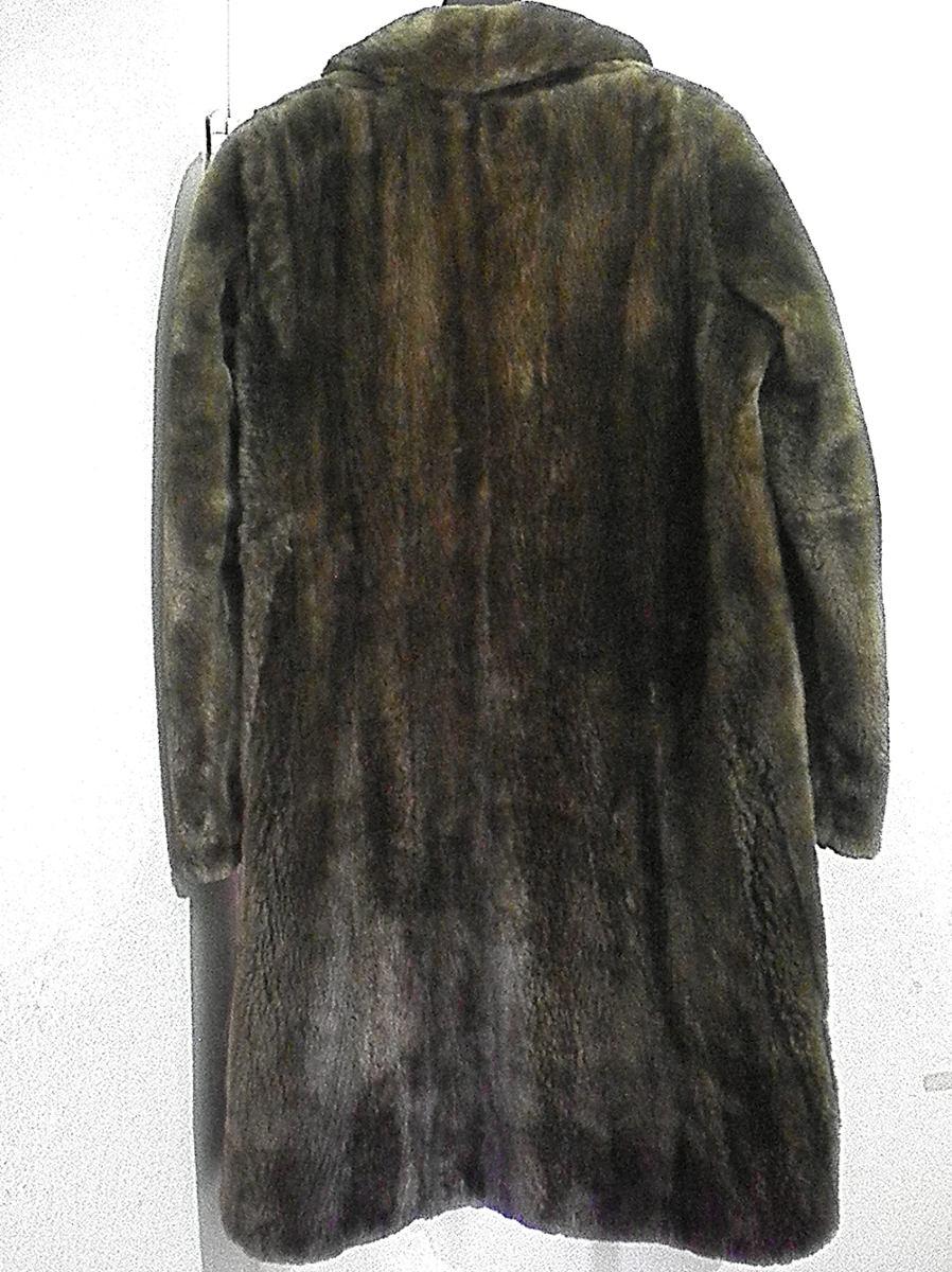 tapado piel abrigo sacon pelo marron xxl 54-6 imperdible. Cargando zoom. fa955768d916