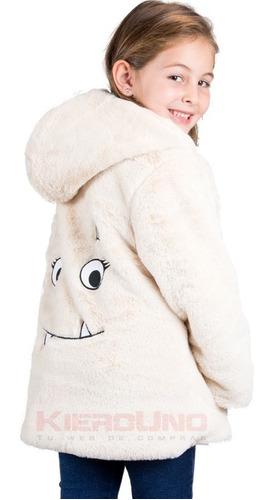 tapado sacon saco nena peludo con capucha piel sintética