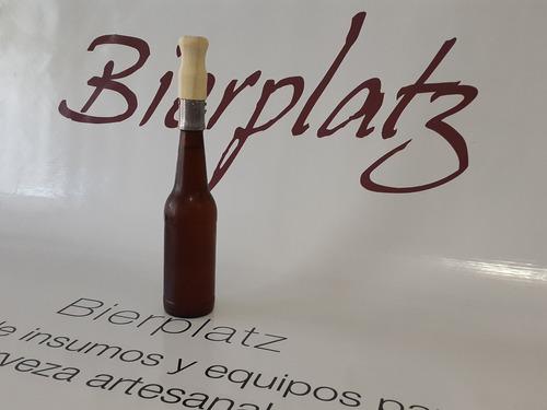 tapadora botellas cerveza + 50 tapa corona impresa bierplatz
