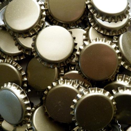 tapas coron lisas 27 mm para botellas de cerveza
