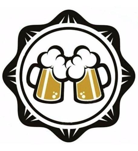 tapas corona 26 c/ impresion de cerveza artesanal x 100 un.
