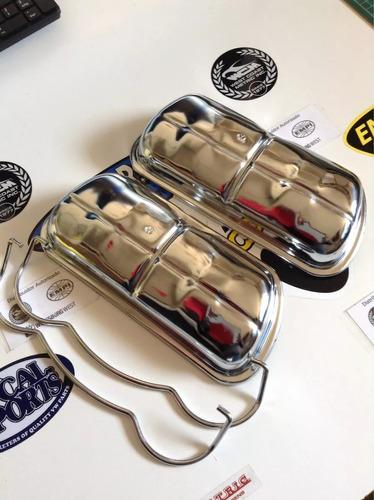 tapas de punteria cromadas para vocho importadas con gancho