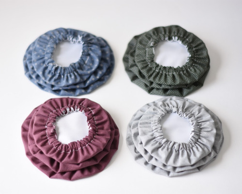 tapas o cubiertas de tela para boles, tazas o ensaladeras