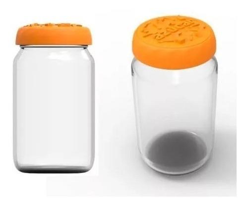 tapas plásticas silicona mermelada colores 63mm frascos