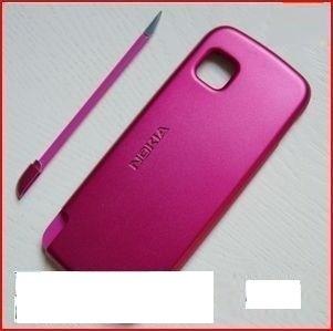 tapas rosa nokia 5200 con lápiz protector táctil celulares