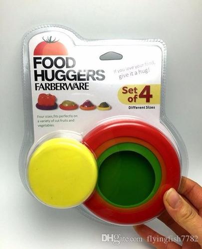 tapas silicon conservar verduras frutas picadas food huggers