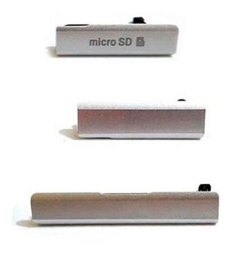 tapas sony xperia z1 puertos sim micro sd carga usb