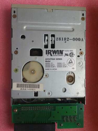 tape backup irwin accutrack model 35120i (para colecionador)