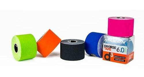 tape cintas d3 kinesiologicas 6 mt x 5cm viene en 8 colores